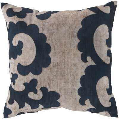 Brownville Scroll Throw Pillow Size: 18 H x 18 W, Color: Blue