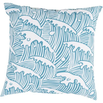 "Surya Rain Waves of Grace Pillow - Color: Aqua, Size: 18"" H x 18"" W x 4"" D at Sears.com"