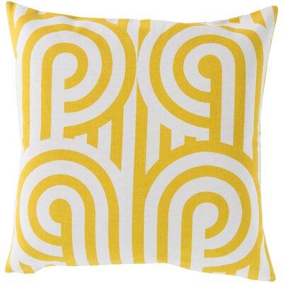 Enedina Sphere Cotton Throw Pillow Color: Yellow, Filler: Down
