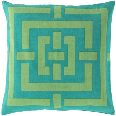 Busti Cotton Throw Pillow Color: Blue, Filler: Down