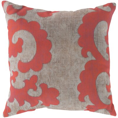 Brownville Scroll Throw Pillow Size: 18 H x 18 W, Color: Orange