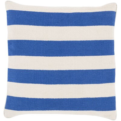 Garron Cotton Throw Pillow Size: 22, Color: Blue, Filler: Down