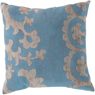 Butler Scroll Outdoor Throw Pillow Size: 18, Color: Light Blue