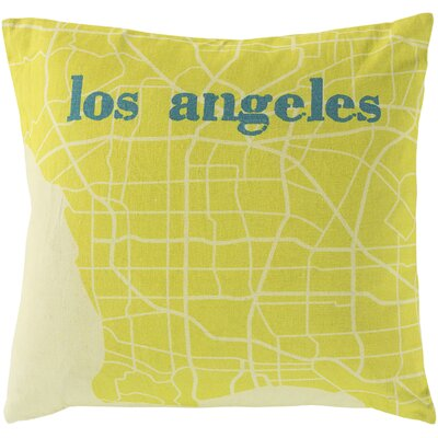 Take me to Los Angeles Cotton Throw Pillow Size: 22 H x 22 W, Filler: Down