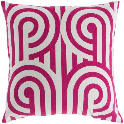 Enedina Sphere Cotton Throw Pillow Color: Pink / White, Filler: Down