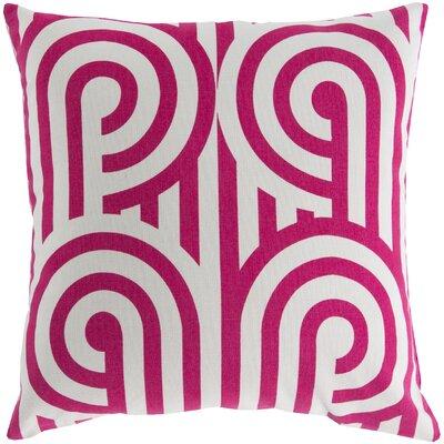 Enedina Sphere Cotton Throw Pillow Color: Pink / White, Filler: Down
