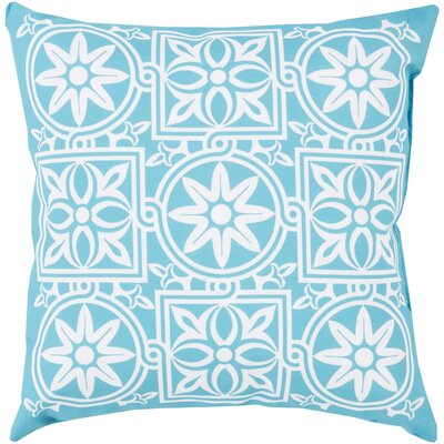 "Surya Rain Multi Tile Moroccan Pillow - Size: 18"" H x 18"" W x 4"" D, Color: Light Blue at Sears.com"