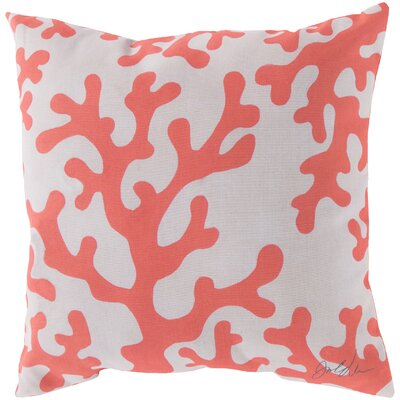 Broadwell Coral Throw Pillow Size: 20 H x 20 W, Color: Orange