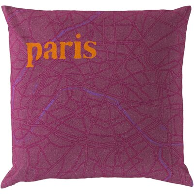 Detroit Cotton Throw Pillow Size: 18 H x 18 W, Filler: Down