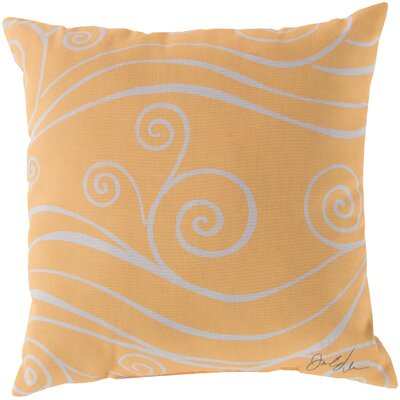 Kampsville Sweeping Swirls Throw Pillow Color: Yellow, Size: 20