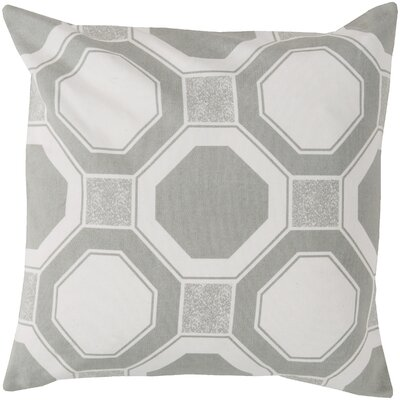 Hypnotized by Hexagons Cotton Throw Pillow Color: Gray, Filler: Polyester
