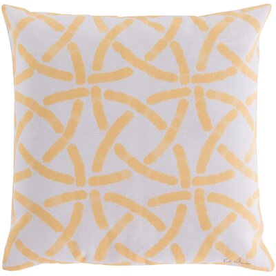 Burns Circles Throw Pillow Size: 20, Color: Yellow