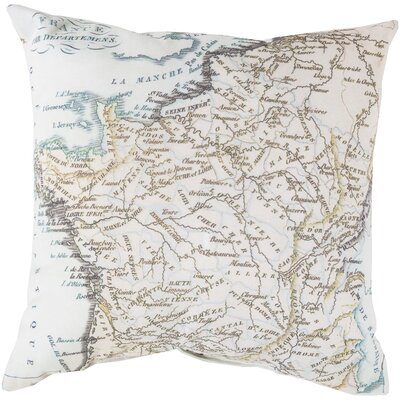 Winstead White Bead Outdoor Throw Pillow Size: 18 H x 18 W x 4 D