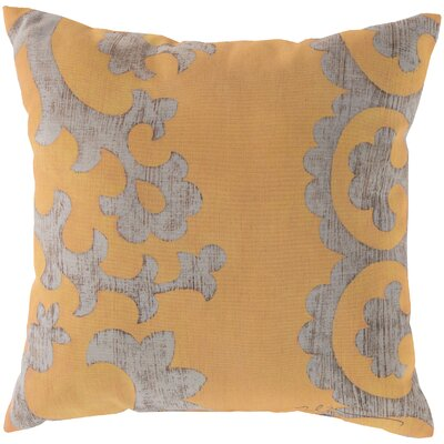 Butler Scroll Throw Pillow Size: 20, Color: Yellow