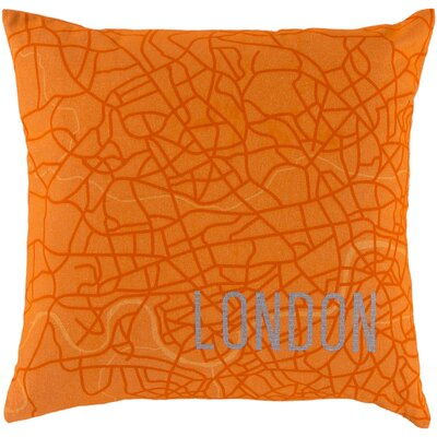 Duprey Cotton Throw Pillow Size: 22, Filler: Down