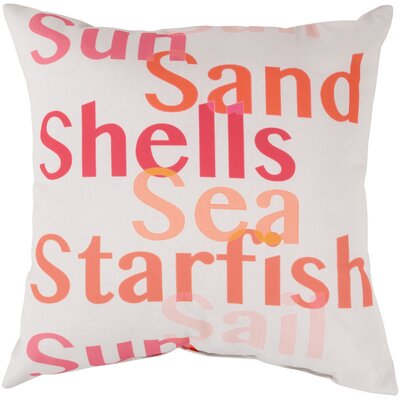 """Surya Striking Sea Filled Pillow - Size: 20"""" H x 20"""" W x 5"""" D, Color: Coral/Orange at Sears.com"""