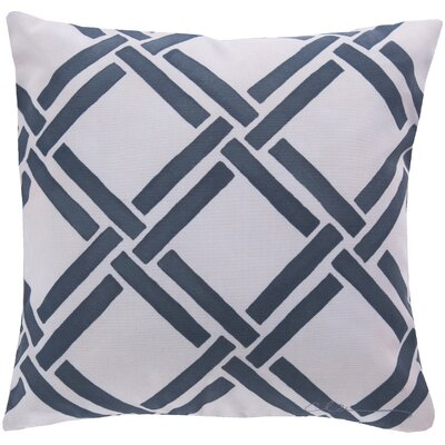 Leticia Overlap Throw Pillow Size: 18, Color: Blue