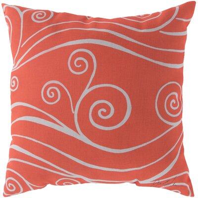Kampsville Sweeping Swirls Throw Pillow Size: 20, Color: Orange