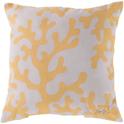 Broadwell Coral Throw Pillow Size: 18 H x 18 W, Color: Yellow