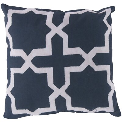 Brockington Star Throw Pillow Size: 18 H x 18 W, Color: Blue
