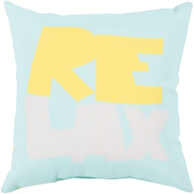 "Surya Rain Just Relax Pillow - Size: 26"" H x 26"" W x 4"" D, Color: Taupe/Sky Blue at Sears.com"