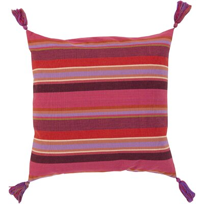 Cotton Throw Pillow Color: Poppy, Filler: Down