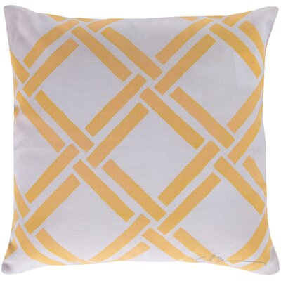 Gia Outdoor Pillow Color: Yellow, Size: 20