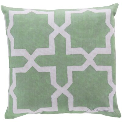 Brockington Star Throw Pillow Size: 18 H x 18 W, Color: Green