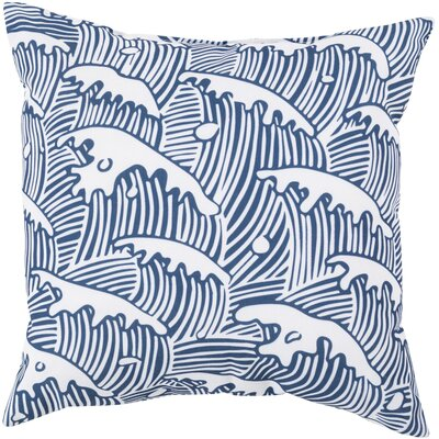 "Surya Rain Waves of Grace Pillow - Color: Cobalt, Size: 18"" H x 18"" W x 4"" D at Sears.com"