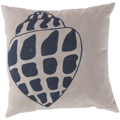 Broadwell Conch Throw Pillow Size: 18, Color: Blue