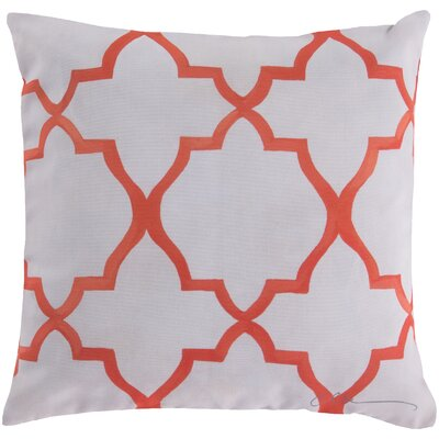 Broome and Lavish Lattice Throw Pillow Size: 18 H x 18 W, Color: Orange