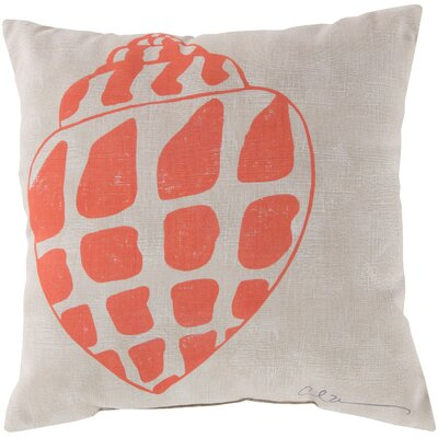 Broadwell Conch Throw Pillow Size: 18, Color: Orange