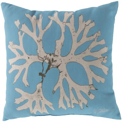 Broadlands Under the Sea Throw Pillow Color: Light Blue, Size: 20