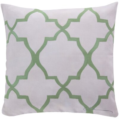 Broome and Lavish Lattice Throw Pillow Size: 18 H x 18 W, Color: Green