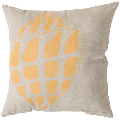 Broadwell Conch Throw Pillow Size: 20, Color: Yellow