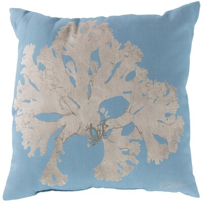Broadway Village Coral Throw Pillow Size: 18, Color: Light Blue