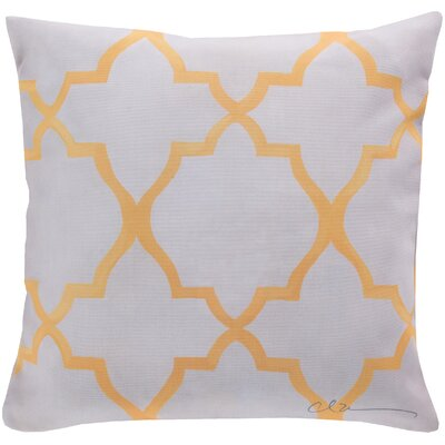 Broome and Lavish Lattice Throw Pillow Size: 18 H x 18 W, Color: Yellow
