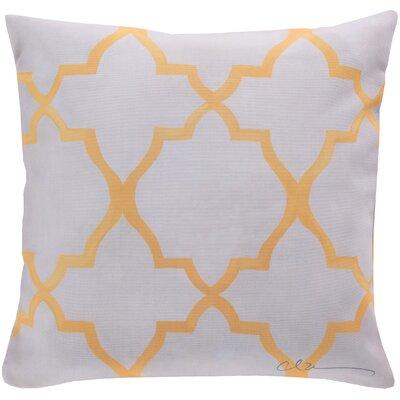 Broome and Lavish Lattice Throw Pillow Size: 20 H x 20 W, Color: Yellow