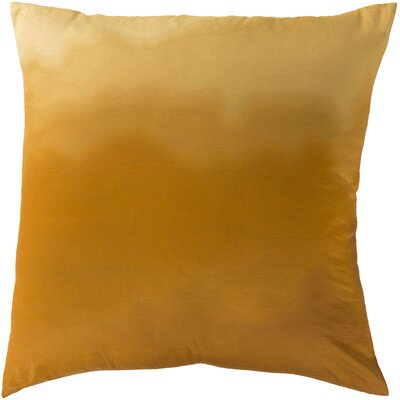 Blecha Ombre Cotton Throw Pillow Size: 18, Color: Gold, Filler: Down