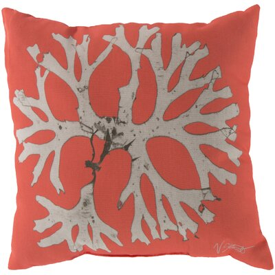 Broadlands Under the Sea Throw Pillow Size: 18, Color: Orange