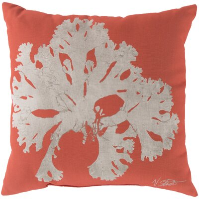 Broadway Village Coral Throw Pillow Size: 18, Color: Orange