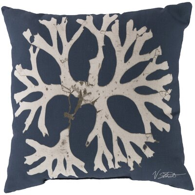 Broadlands Under the Sea Throw Pillow Size: 20, Color: Blue