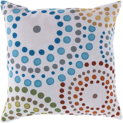 Carmelina Blue/Red/Green Outdoor Throw Pillow Size: 18 W x 18 D