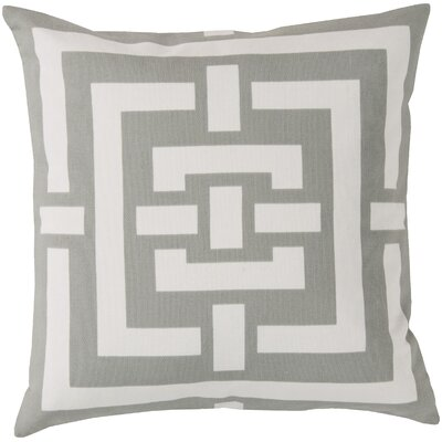 Busti Cotton Throw Pillow Color: Gray, Filler: Down