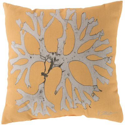 Broadlands Under the Sea Throw Pillow Size: 18, Color: Yellow