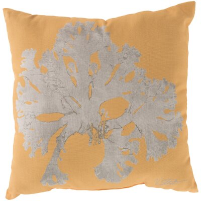 Broadway Village Coral Throw Pillow Size: 20, Color: Yellow