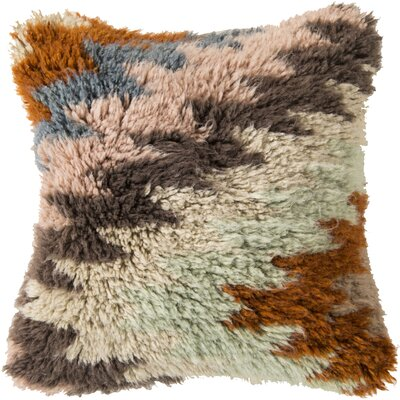 Zig Zagging Delight Wool Throw Pillow Filler: Polyester