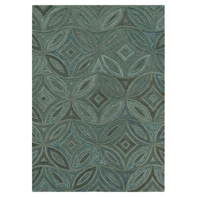 Quinn Green/Slate Gray Rug Rug Size: Rectangle 33 x 53