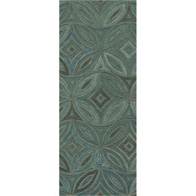 Quinn Green/Slate Gray Rug Rug Size: Runner 26 x 8