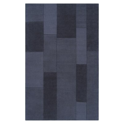 Juney Hand-Loomed Blue Area Rug Rug Size: 5 x 8